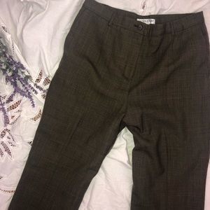 VTG High Waisted Pendleton Brown plaid trousers 8